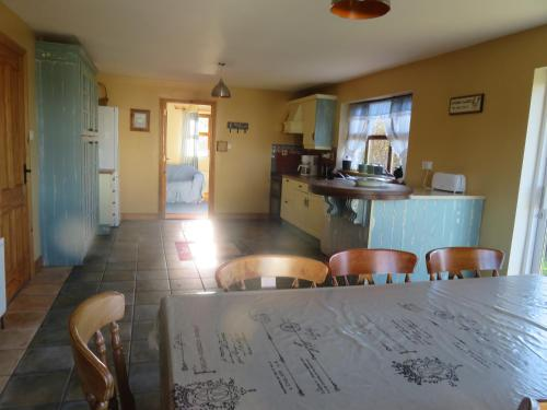 A kitchen or kitchenette at BunkHouse - Letterfrack Farm