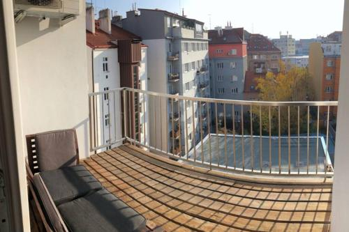 A balcony or terrace at Comfort Apartment with Balcony