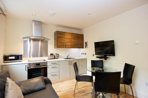 Küche/Küchenzeile in der Unterkunft Staycity Aparthotels West End