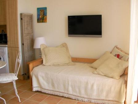 A bed or beds in a room at Appartement Corse Azur