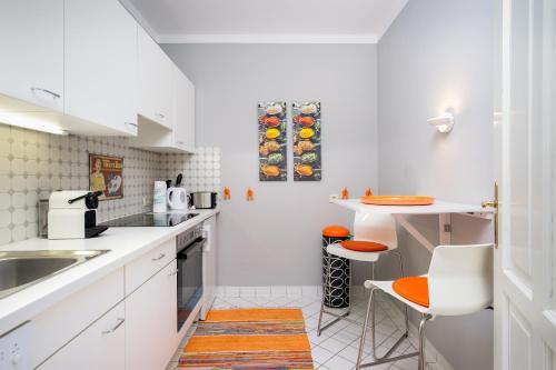Küche/Küchenzeile in der Unterkunft Villa1862