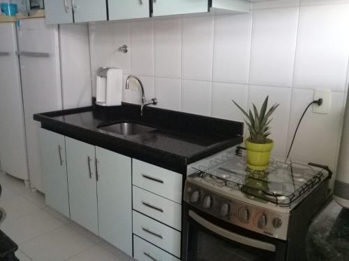 A kitchen or kitchenette at APTO 3/4 Barra - Carnaval Perfeito