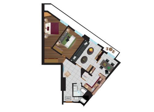 The floor plan of Blue Ark Elegant Athens 1&2