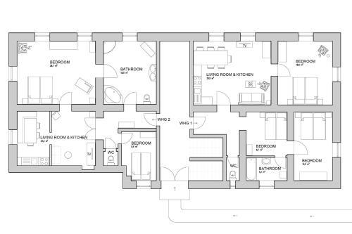 Grundriss der Unterkunft Ferienwohnung Mariazell