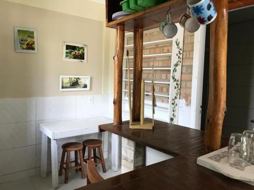 A kitchen or kitchenette at Pousada Beija-Flor