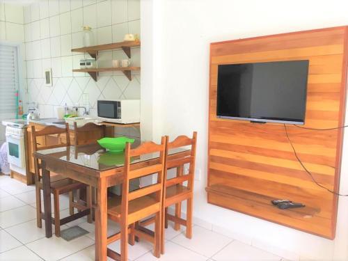 Una televisión o centro de entretenimiento en Residencial Pontal Campeche