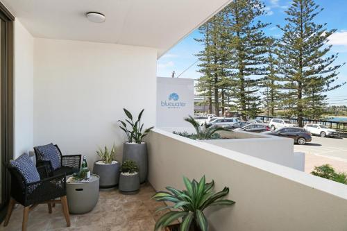 A balcony or terrace at Oceanview Kiama Luxury Sea view accommodation Bluewater apartments
