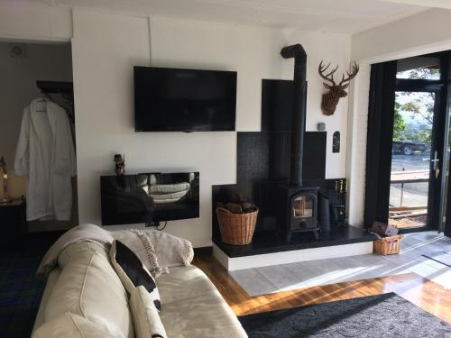 A television and/or entertainment center at loch lomond apartments