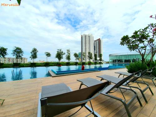 The swimming pool at or close to Luminari Premium Suite x Merveille @ Butterworth