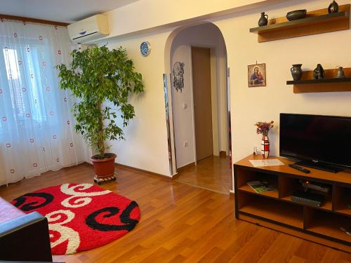 A television and/or entertainment center at Union Apartment