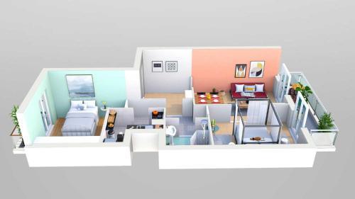 The floor plan of Acropolis Area Cozy Apartment