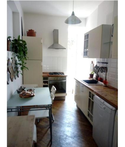 A kitchen or kitchenette at Garbatella in love