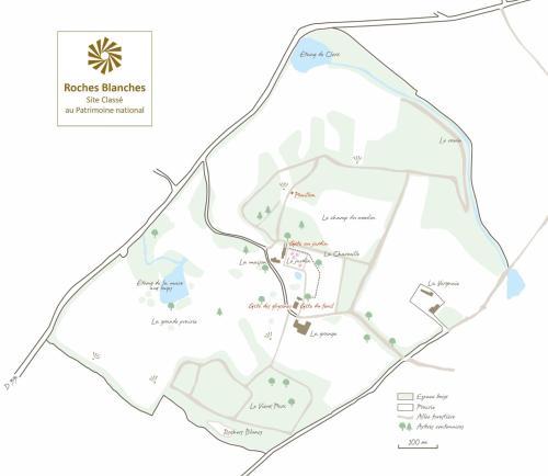 Plan de l'établissement Proche Puy du Fou - Roches Blanches