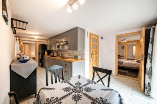 A kitchen or kitchenette at Tatrovia Widokowe Apartamenty