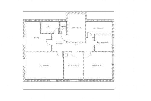 Grundriss der Unterkunft Haus Burgblick