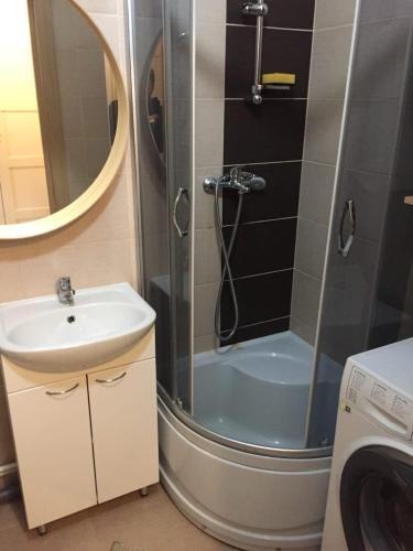 Ванная комната в Апартаменты в Кудрово