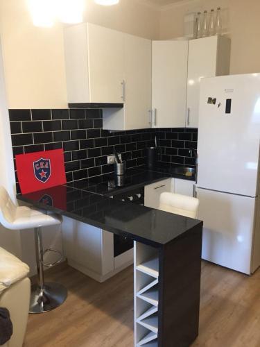 Кухня или мини-кухня в Апартаменты в Кудрово