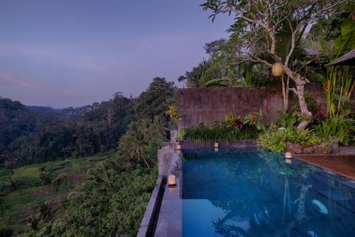 The swimming pool at or close to Black Penny Villas Ubud