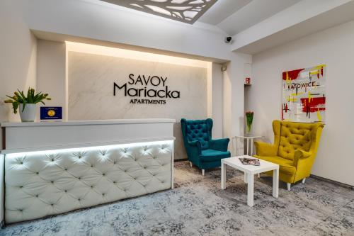 The lobby or reception area at SAVOY Mariacka Apartments
