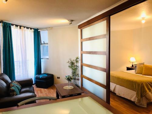 Zona de estar de Infinity Apartments (Bellas Artes)