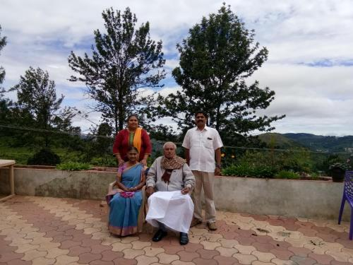A family staying at IVC Villa
