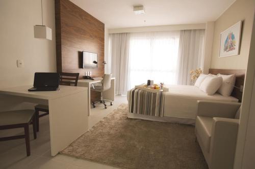 A seating area at Apartamento Vision 2