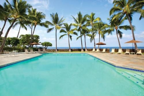 The swimming pool at or near Royal Sea Cliff Kona by Outrigger