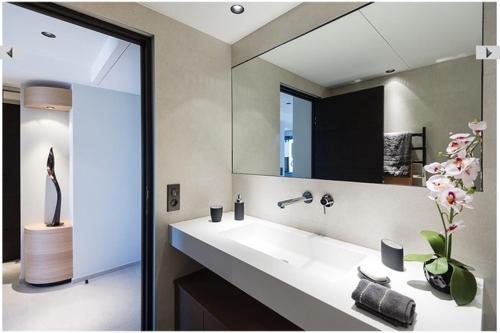 A bathroom at Azur 3000