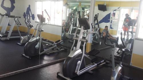 Gimnasio o instalaciones de fitness de Apartamento Aruana