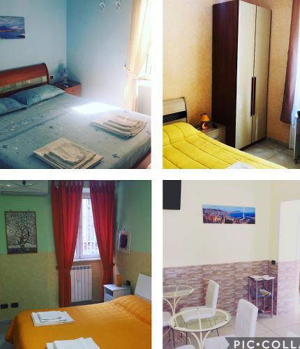 Letto o letti in una camera di B&B Quattro Palazzi Napoli Centro