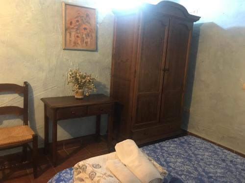 Cama o camas de una habitación en Cortijo La Ajedrea