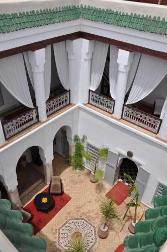 A seating area at Riad Tizwa Marrakech