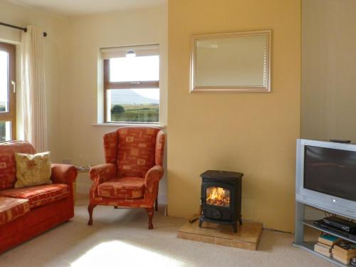 A seating area at Ballycroy Bungalow