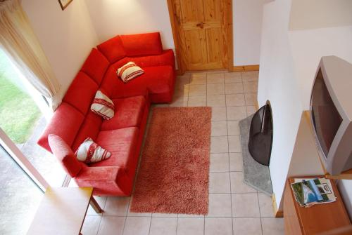 A seating area at Burren Way Cottages