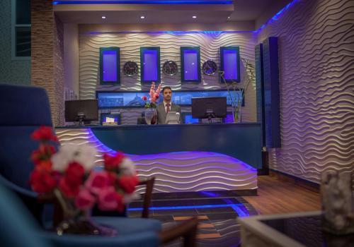The lobby or reception area at Taleen AlSahafa Hotel Apartments