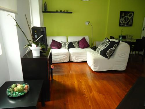 Posezení v ubytování Casa dos Prazeres