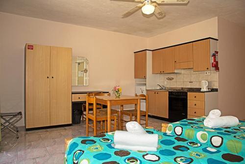 Een keuken of kitchenette bij White Dolphin Complex