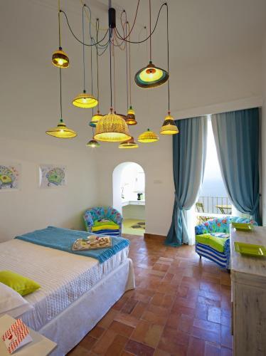 Letto o letti in una camera di Casa Marta Capri
