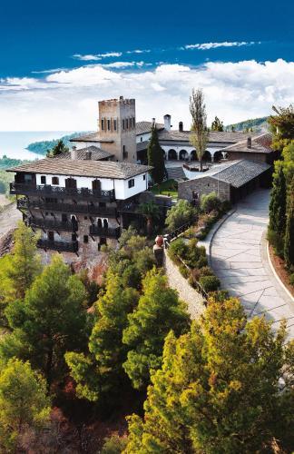 Άποψη από ψηλά του Porto Carras Villa Galini