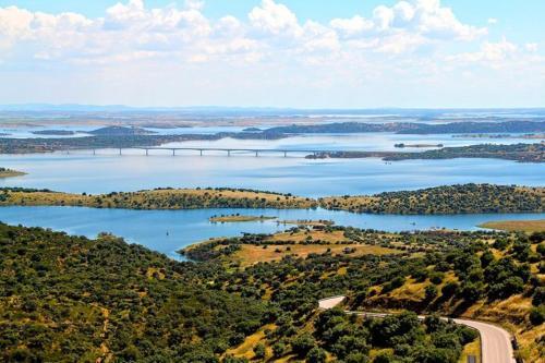Letecký snímek ubytování Recanto na Planicie