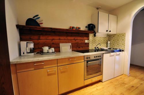 Küche/Küchenzeile in der Unterkunft Auhof