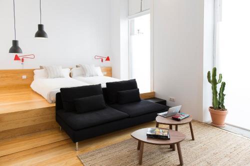 Zona de estar de The Loft Las Palmas