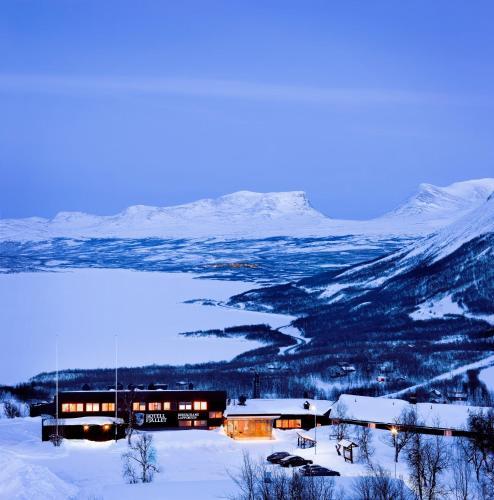 Hotell Fjället during the winter