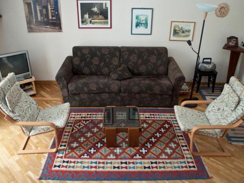 Area soggiorno di Minerva House