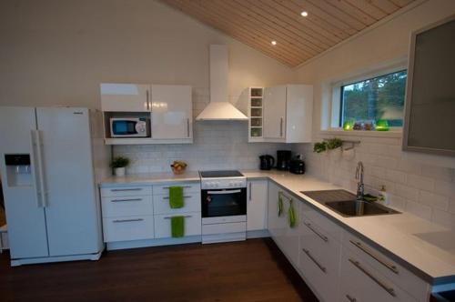 A kitchen or kitchenette at Svinö Waterfront Villa