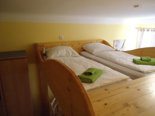 Letto o letti in una camera di Apartment Malá Štěpánská