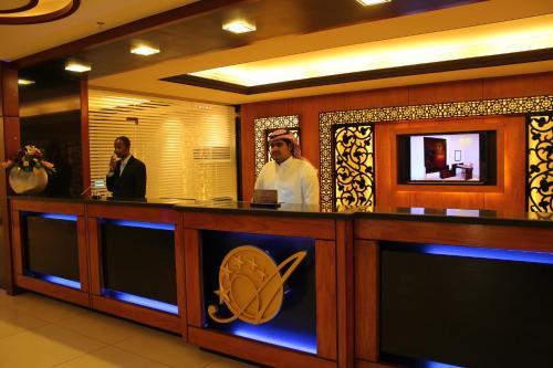 The lobby or reception area at Ofoq Al Raha Hotel Apartment