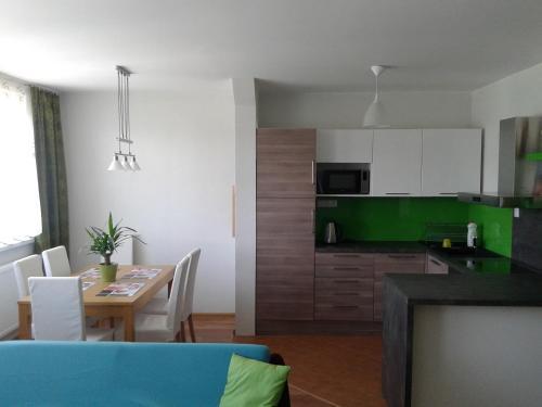 Kuchyň nebo kuchyňský kout v ubytování Apartmán Liptov