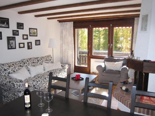 Coin salon dans l'établissement Apartment Lauber, Haus Wichje A, Zermatt