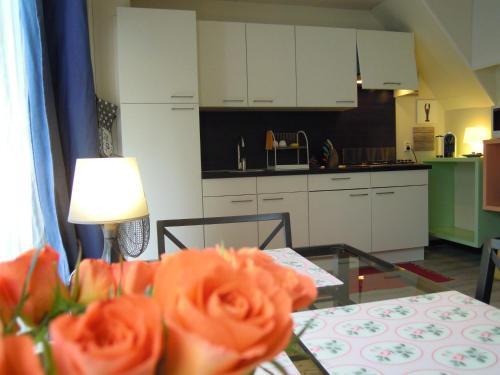 A kitchen or kitchenette at Zaandam Apartment